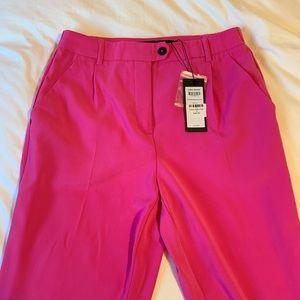 Hot pink, women's chino pant.